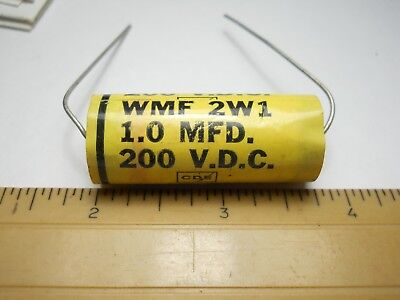 1 uf 15 VDC Poly Fill Wrap Capacitor NOS, New Old Stock QTY 10 ea D74