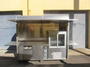 CHEAPEST MOBILE COFFEE / FOOD CART STAINLESS STEEL Tempe Marrickville Area Preview