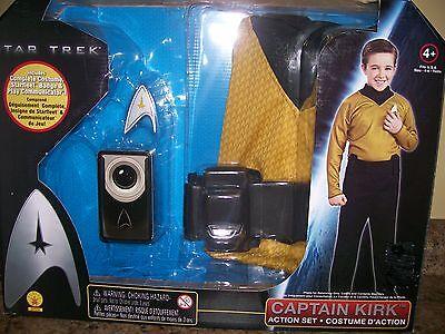 Star Trek Captain Kirk DRESS UP PLAY Action Costume Box Set Child Size 4 - 6 (Captain Action Kostüm Set)