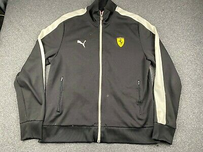 VINTAGE PUMA FERRARI COLLABORATION FULL ZIP ACTIVE JACKET SIZE XL A FEW STAINS