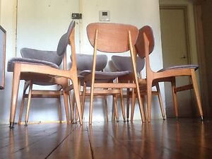Restored retro dining chairs x 6 Parker Eames era Bexley Rockdale Area Preview
