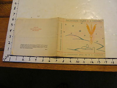 Vintage MARIONETTE Paper: 1932 December Night a Nativity by d.s. fairchild