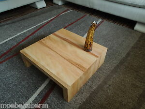 couchtisch kern buche massiv holz design tisch beistelltisch neu ma ebay. Black Bedroom Furniture Sets. Home Design Ideas