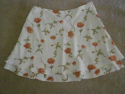 La Belle Floral Skirt (La Belle Fashions Inc Floral Skirt Juniors Size 13 )