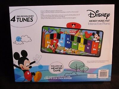 Disney Mickey Mouse Big Floor Step On Interactive Electronic Piano Mat New