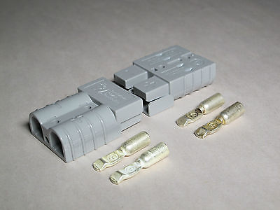 Authentic Anderson Sb50 Connector Kit Gray 1012 6319g1 2 Pack 4 Connectors