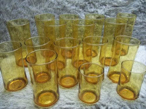 Vintage Mid Century lot 16 Libby Amber Glasses