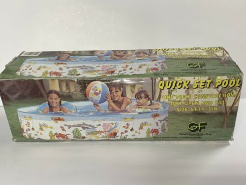 vintage quick set inflatable pool 6ft x