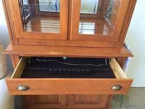 Solid maple China cabinet