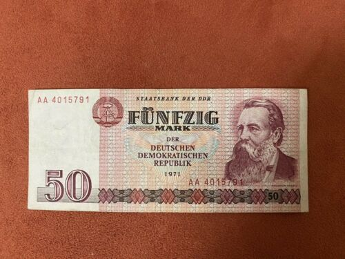 East German 50 Marks Banknote (1971 Dated)
