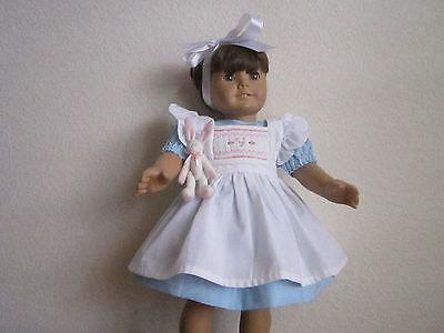 ALICE IN WONDERLAND DRESS, Pinafore, White Rabbit fits American Girl - Handmade!](Modern Alice In Wonderland Dress)