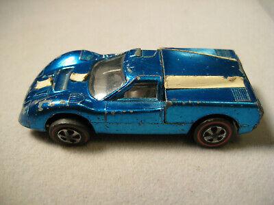 Vintage Hot Wheels Redlines Ford J-Car 1967 Blue