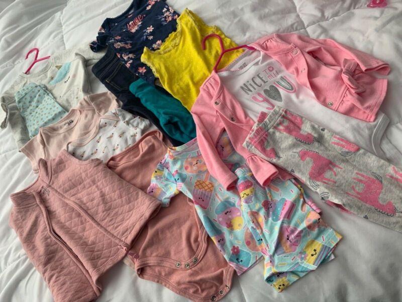 Mixed Lot Baby Girl 3-9 Months-mixed Brands.