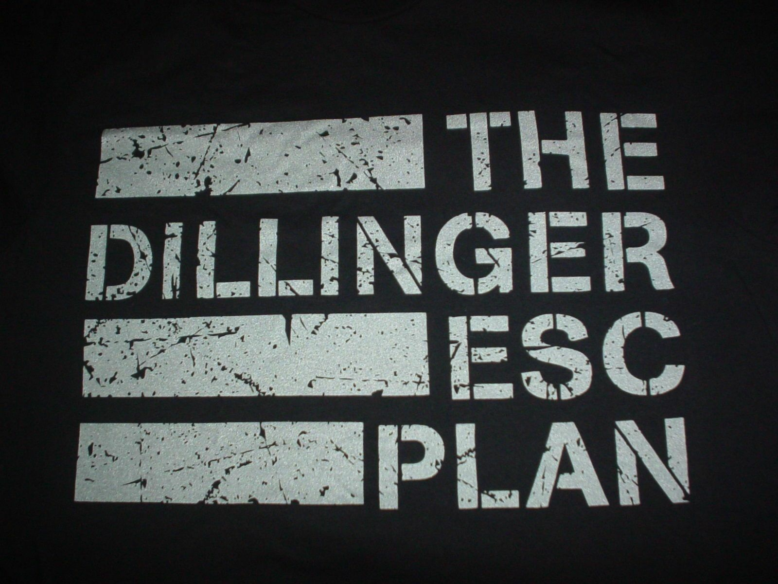 THE DILLINGER ESCAPE PLAN Flag Concert Band NEW Large L or XL T SHIRT UNWORN