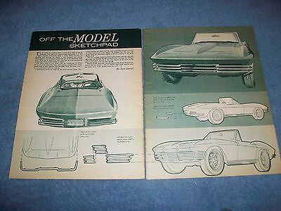 1963 Corvette Roadster Tom Daniel Vintage Skizzenheft Custom Ideen Artikel