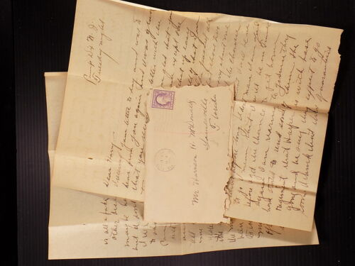 WW1 Letter to Brother 1917 Will Be Going to France Soon Ft. Dix N. J
