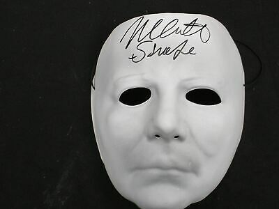 NICK CASTLE Signed Michael Myers VacuForm MASK The Shape - Nick Castle Halloween