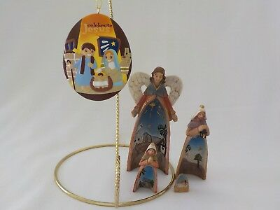 2010 Day Spring Nativity Ornament & Dicksons Holy Family Angel Nesting Christmas