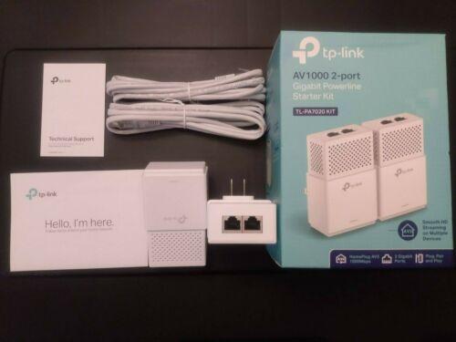 TP-Link TL-PA7020 KIT V2 2-Port Gigabit Powerline Starter Kit