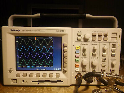 148 Hours Tektronix Tds3054b 500mhz 5gss Oscilloscope. Tested. Tds3trg Tds3fft