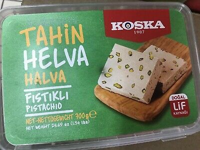 Halva with Pistachio -Tahin Helva ( Koska ) 700g Halawa With Nuts...