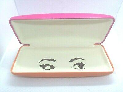 Kate Spade Designer Eye Glass Case, Pink & Orange Hard Clam Shell (Eye Glass Designers)