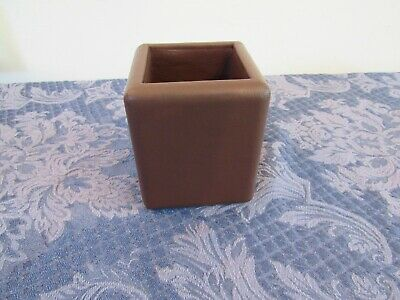 Knoll Leather Desk Office Table Organizer Supplies Pen Pencil Holder Storage