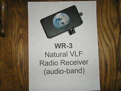 WR-3 ELF-VLF Handheld Receiver (for natural-radio listening)