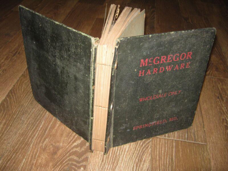 Antique ?? Vintage McGregor Hardware Wholesale Only Springfield Mo Catalog