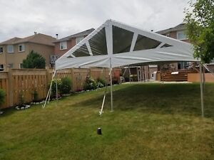 Inquire about renting tents, tables, chairs and party essentials