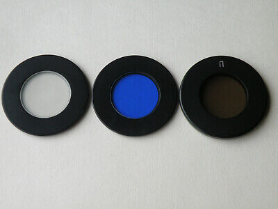 New Set Of 3 Glass Filters For Polarizing Pol Microscope Min Lomo Zeiss