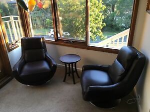 Two genuine leather lounge chairs Mosman Mosman Area Preview