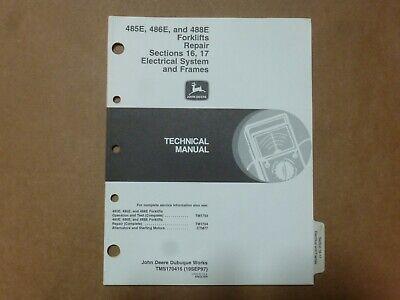 John Deere 485e 486e 488e Forklift Electrical System Frames Service Manual