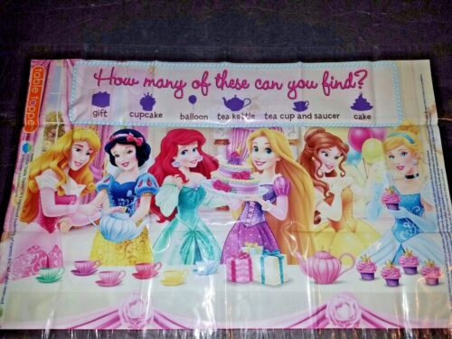 DISNEY PRINCES~DISPOSABLES STICK IN PLACEMATS. 2 PACK OF 10..