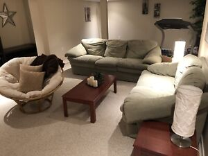 Complete family room: Couch, loveseat and coffee tables