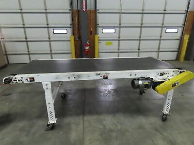 Lewco 9 X 40 Portable Flat Belt Conveyor 37 End Drive Roller 1ph 120v 32 Fpm