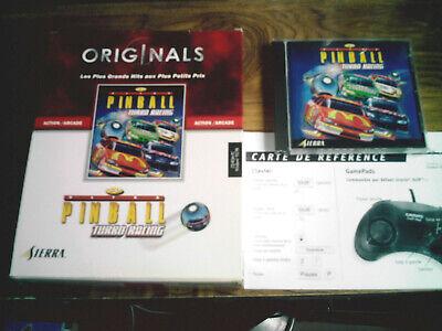 coffret jeu pc cdrom big box pinball turbo racing sierra originals flipper