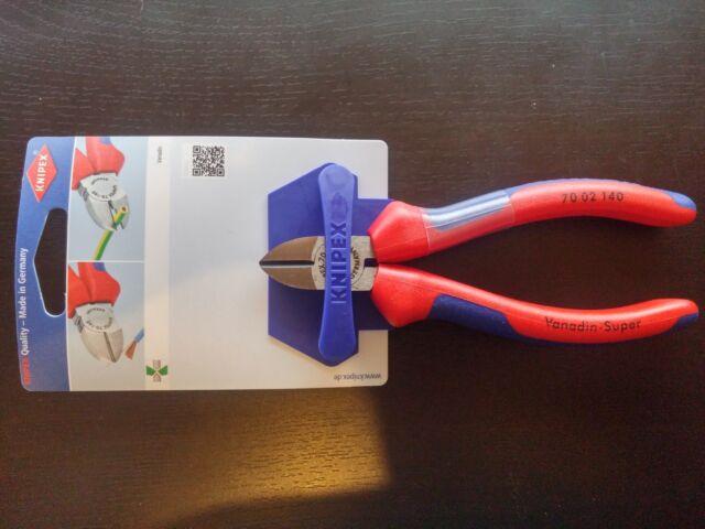 Knipex Seitenschneider poliert 7002140 max Draht weich mittel hart Ø 4,0/2,5/1,8
