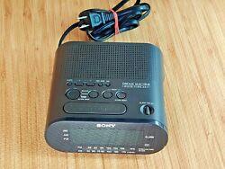Sony Dream Machine Black FM/AM Alarm Clock Radio ICF-C218 Tested Fast USA Ship
