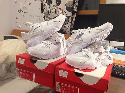 Nike Air Huarache Triple White 318429 111 Men and Youth Sizes