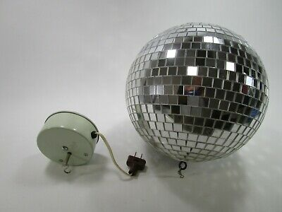 Ceiling Mounted Disco Ball (Retro disco ball with electric ceiling mount vintage)