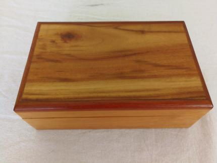 Light timber jewellery box