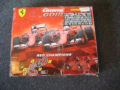 NEW Carrera Go Red Champions Slot Car Racing Race Set 20062394 MISSING TRACK