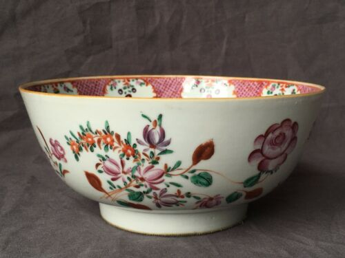 Antique 18th Century Chinese Export Porcelain Bowl