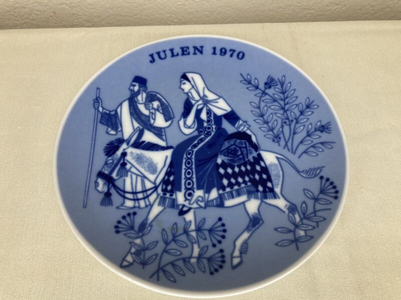 Porsgrund Norway Collectible Christmas Plate 1970