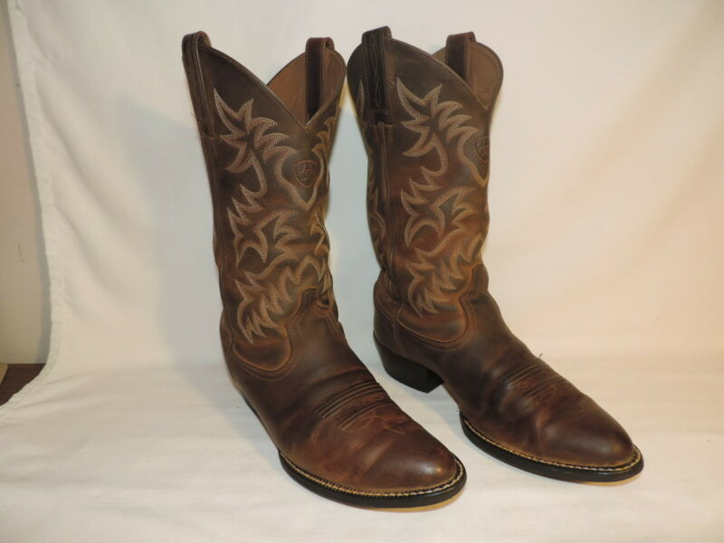 Ariat, Heritage, Distressed, Leather, Cowboy, Boots, 10002204, 34725, Brown, Mens, 8, D