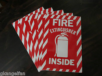 5 Signs Fire Extinguisher Inside 6 X 9 Picture Sign Self Adhesive Vinyl