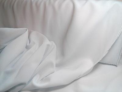- White Gabardine Polyester 60  wide Free swatches. Available by roll.