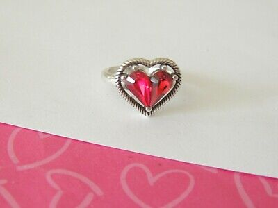 Brighton ONE LOVE RED HEART Crystal Ring SIZE 9