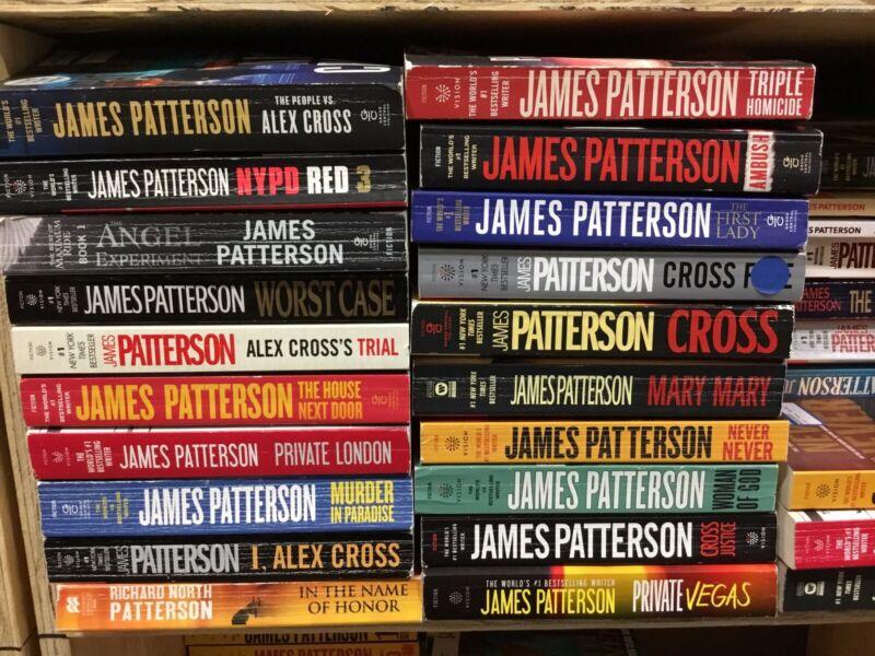 Lot of 10 Random James Patterson Paperback Books - Random - Free Shipping